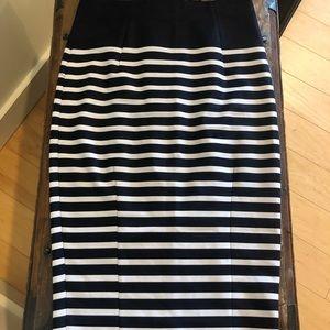 Stripped Pencil Skirt